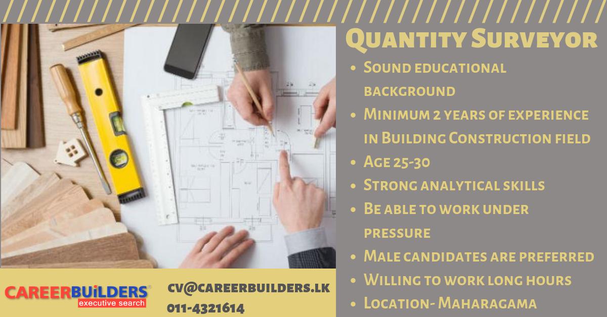top jobs, job vacancies - Quantity Surveyor in Colombo