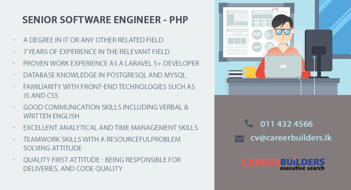 top jobs, job vacancies - Senior Software Engineer-PHP in Colombo