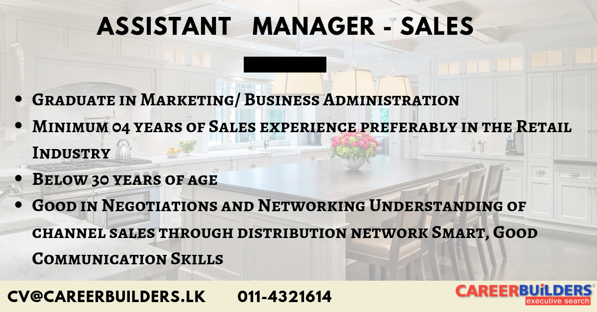 top jobs, job vacancies - Assistant Manager-Sales in Colombo