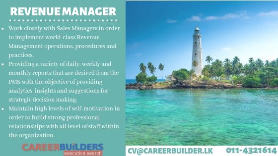 top jobs, job vacancies - Revenue Manager in Colombo