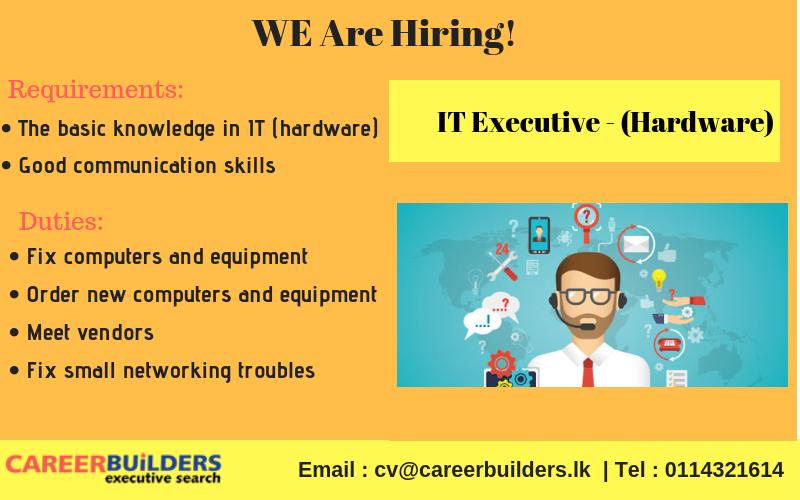 top jobs, job vacancies - IT Executive (Hardware) in Colombo