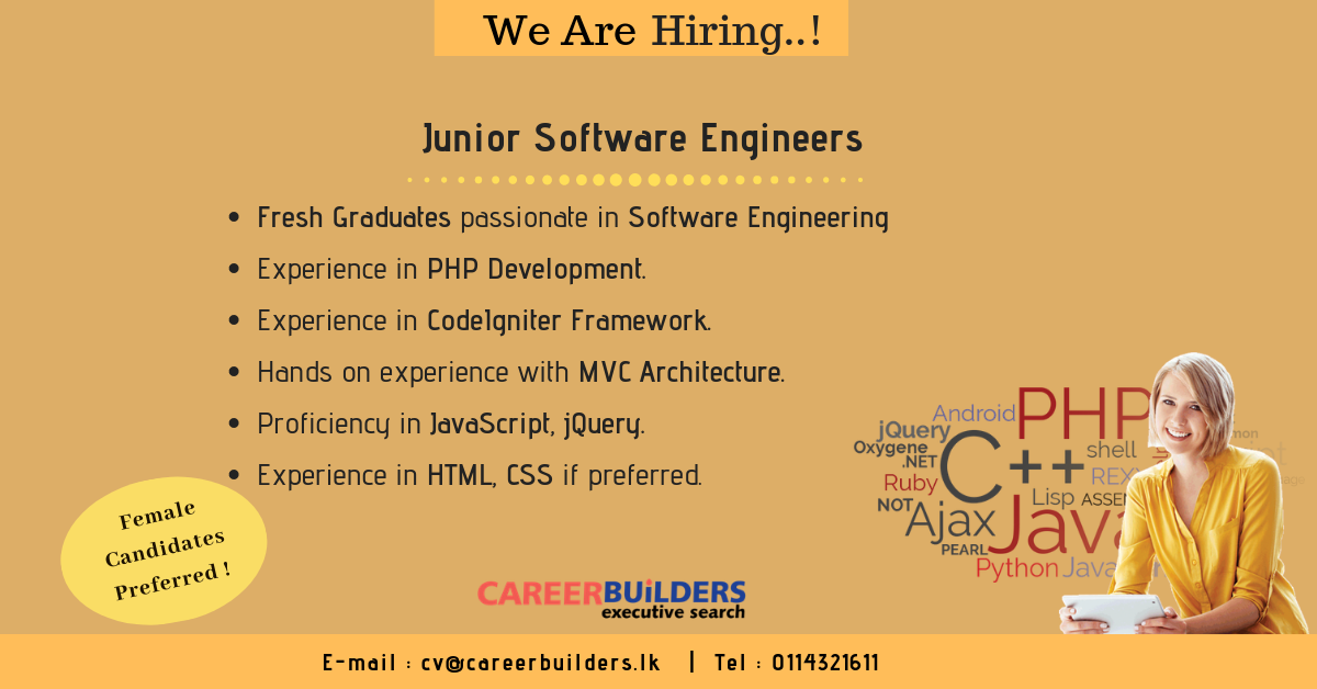 top jobs, job vacancies - Junior Software Engineers in Colombo