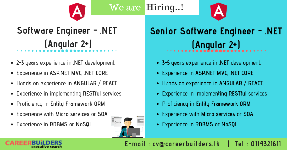 top jobs, job vacancies - Software Engineer .NET / Senior Software Engineer .NET in Colombo