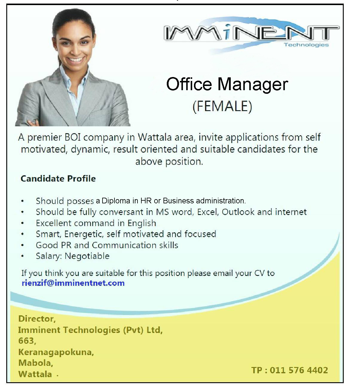 interested in this job submit your application