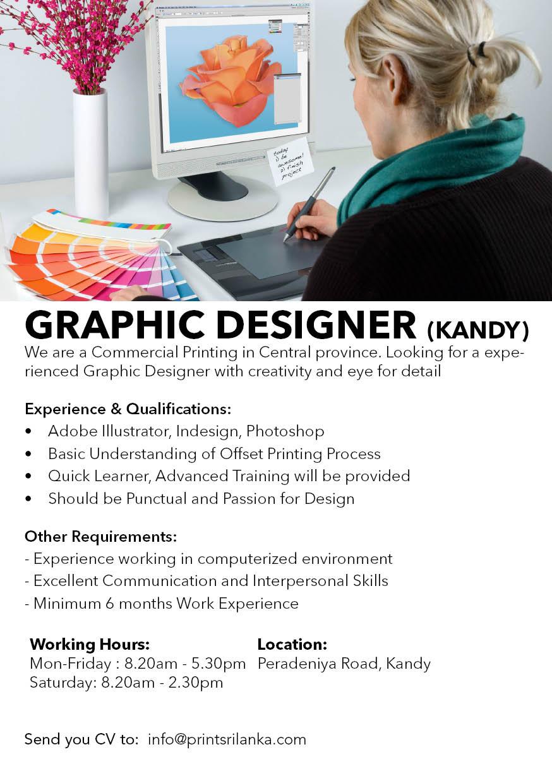 top jobs, job vacancies - Graphic Designer in Kandy