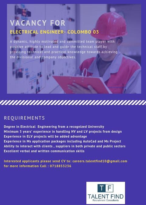 top jobs, job vacancies - Electrician in Colombo