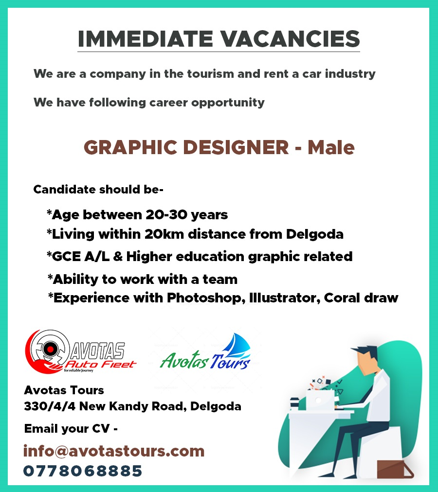 top jobs, job vacancies - Graphic Designer in Gampaha