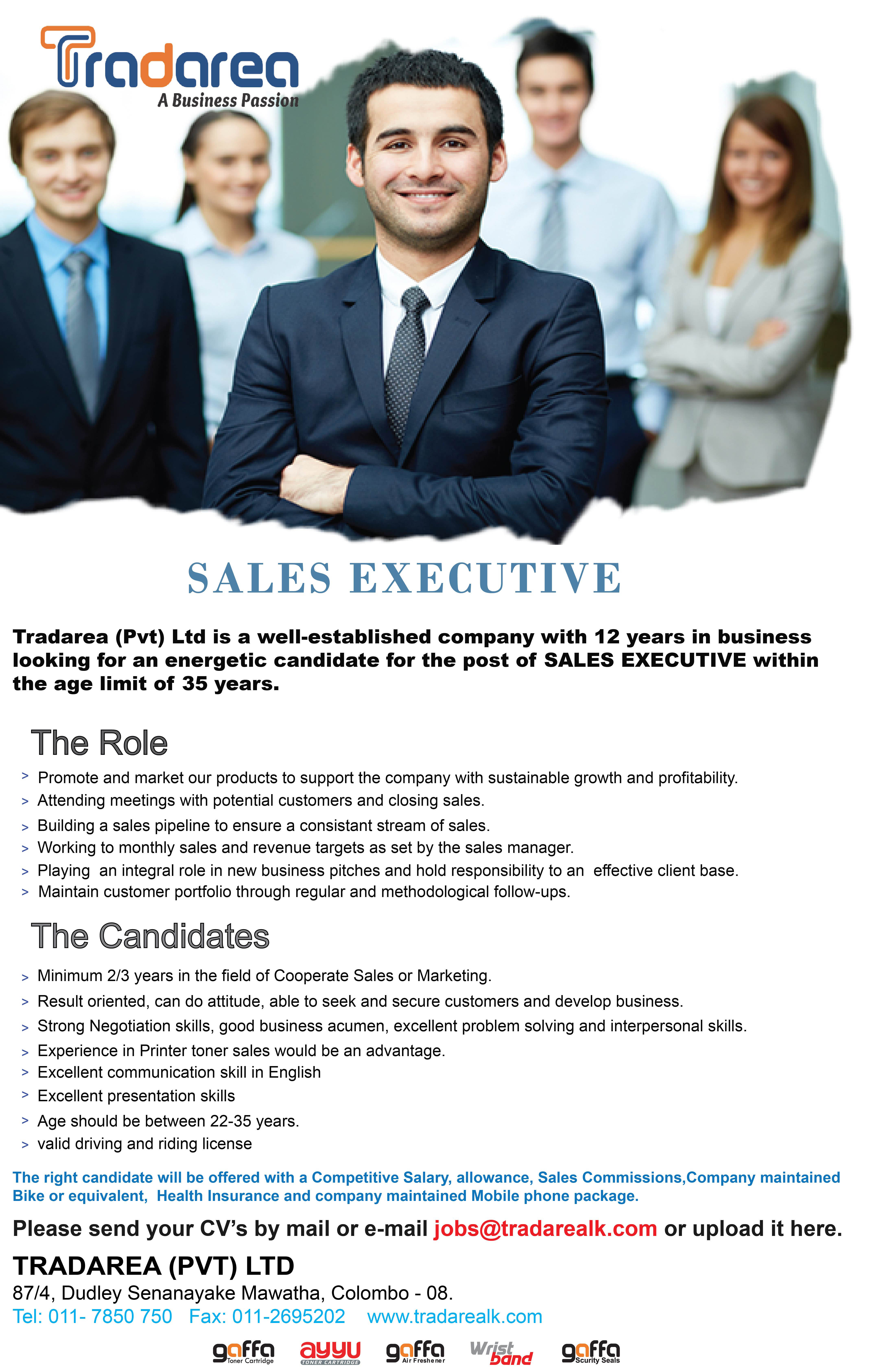 top jobs, job vacancies - Sales Executive in Jaffna