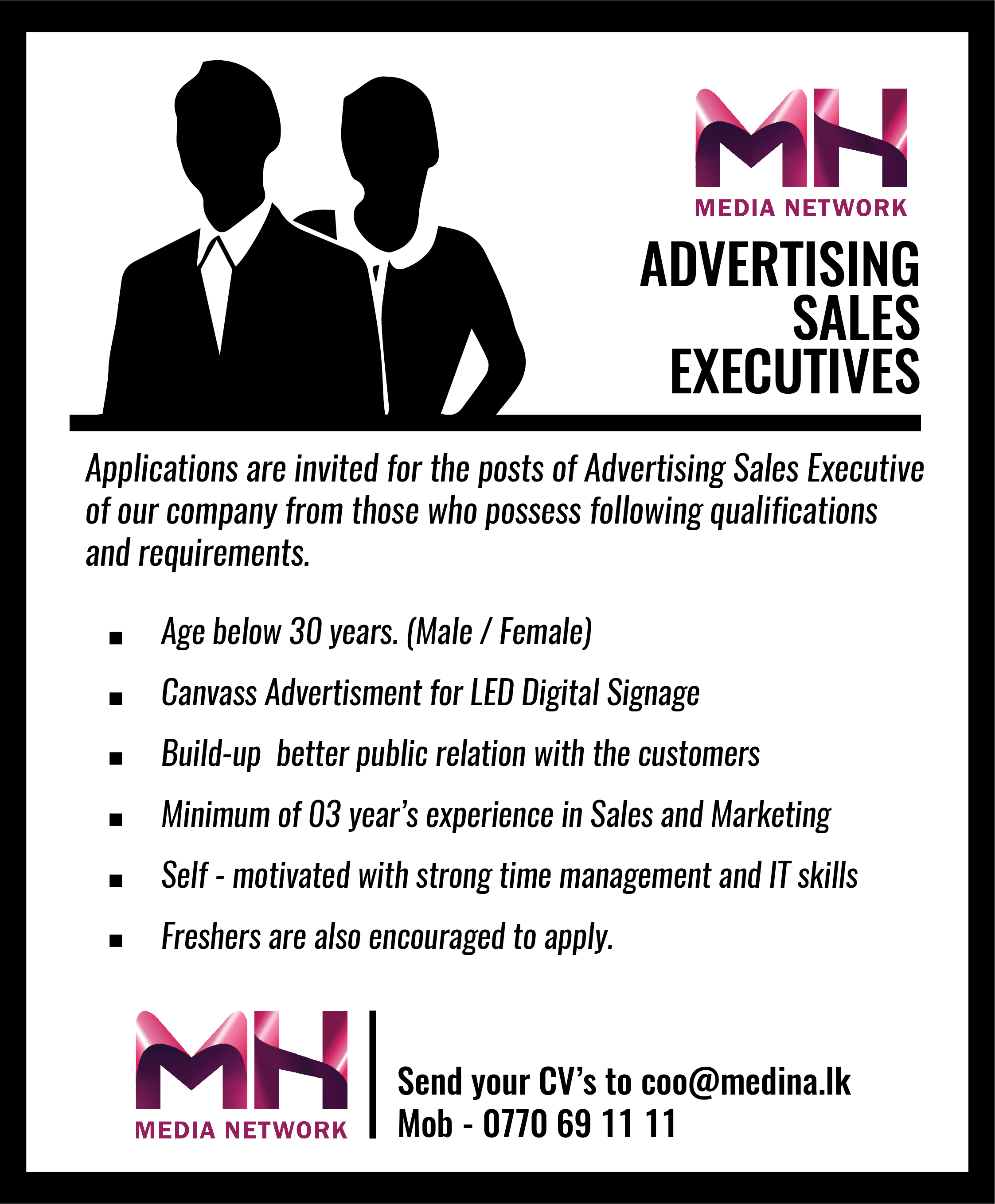 top jobs, job vacancies - SALES EXECUTIVES in Colombo
