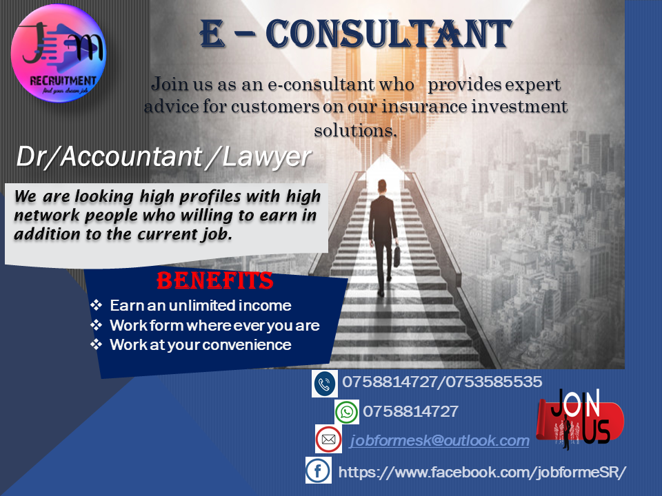 top jobs, job vacancies - e-Consultant in Colombo